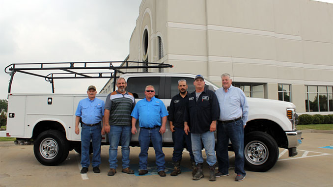 The new land rig equipment services team from left, Jim Trullinger, Nathan Barber, Steve Stalcup, Russell Simpson, Brian Basinski and Ward Newton