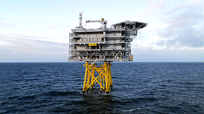 Offshore substation at Hornsea One