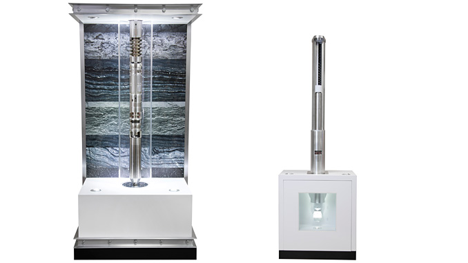 From left, the Subsurface Compressor System™ (SCS) and the Magnetic Drive System™ (MDS)