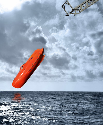 Norsafe freefall lifeboat