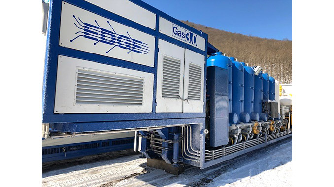 The EDGE Virtual Pipeline works by deploying Galileo Global Technologies' transportable Cryobox™ LNG production and liquefaction equipment