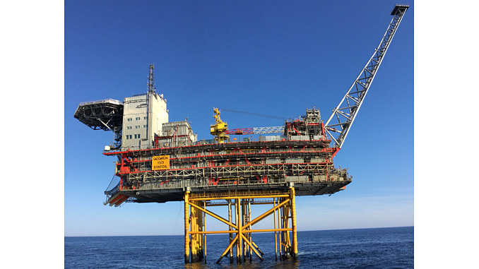 Gudrun platform – a traditional steel platform resting on the seabed
