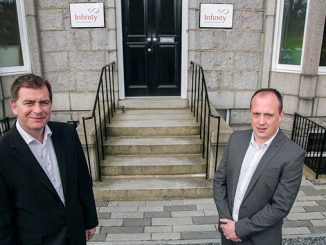From left, Infinity Partnership's Simon Cowie, managing partner, and Greg Houston, associate director