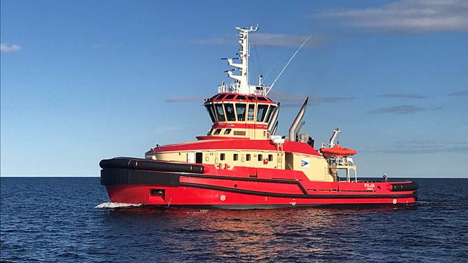 The 'Vilja', an escort tug operated by the Port of Luleå in Sweden, is the first vessel of its kind operating with the Wärtsilä HY hybrid power module