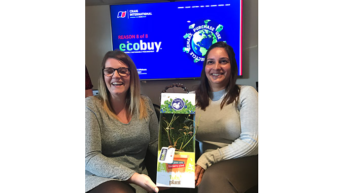 Rebecca Lindsay and Shereen Johnstone of Craig International launch ecobuy