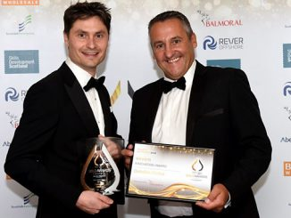 Tristam Horn, DeltaTek CEO, and Gary Yeoman from Balmoral (photo: Heather Fowlie)