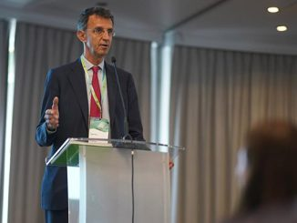 Diego Pavia, CEO at EIT InnoEnergy, addresses the EBA250 stakeholder meeting