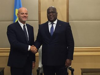 The President of the Democratic Republic of the Congo, Félix Tshisekedi, meets the CEO Claudio Descalzi