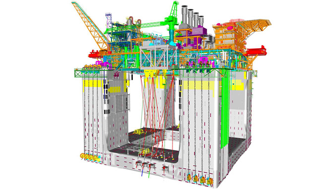 The deepwater Floating Production Unit (FPU) to be moored at the Lingshui 17-2 gas field