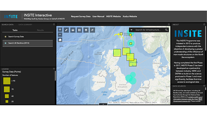 INSITE is a scientific research programme to increase understanding of the influence of man-made structures on the ecosystem of the North Sea