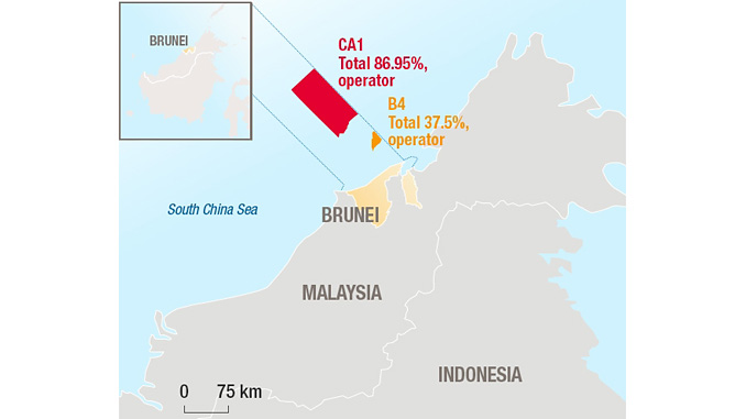Total exploration and production in Brunei