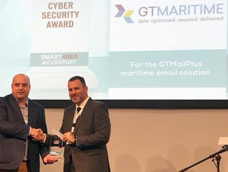 GTMaritime presented the Cyber Security Award at Smart4Sea Europort 2019