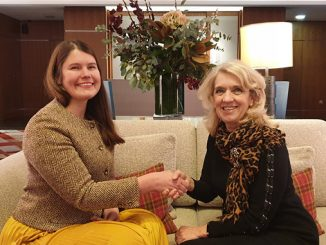 From left, Emma Perfect, CEO of LUX Assure, and Jeanette Forbes, CEO of Blue Gentoo