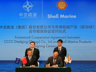 Shell Marine and CCCC Dredging framework agreement signing