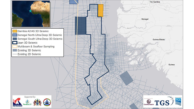 3D seismic data offshore The Gambia
