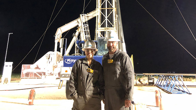 Russell Brown and Paolo Quintero from Tendeka onsite for a Permian Basin project