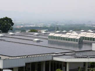 Total rooftop solar panels – here, at Sasyunkan co, Kumamoto, Japan