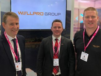 From left, Wellpro CEO Jim Thomson; Mark Fraser, Regional Manager Middle East; and Martin Webster, Regional Manager Asia