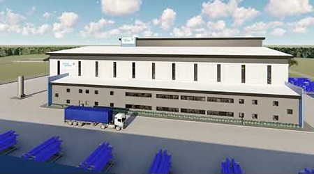 The new manufacturing Testing and Assembly building at the Montrose Centre of Excellence (illustrations: Baker Hughes)