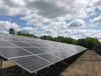 The grid-connected solar photovoltaic plant in Middleton, Massachusetts, completed construction in June 2018