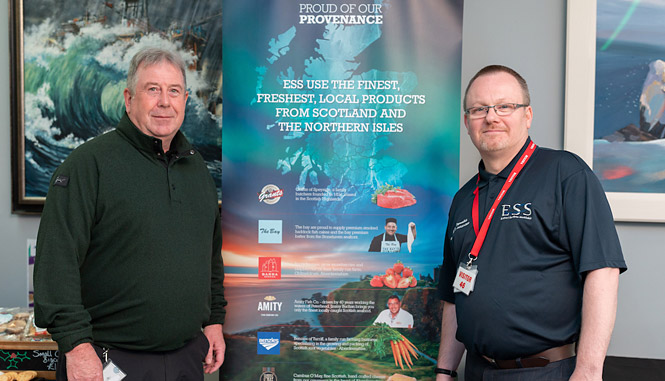 From left, Premier Oil client Phil Cruickshank and ESS Operations Manager Peter Reynolds