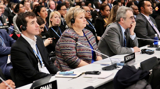 Prime Minister Erna Solberg at COP 25 in Madrid (photo: Eirin Larsen/Office of Norway's Prime Minister)