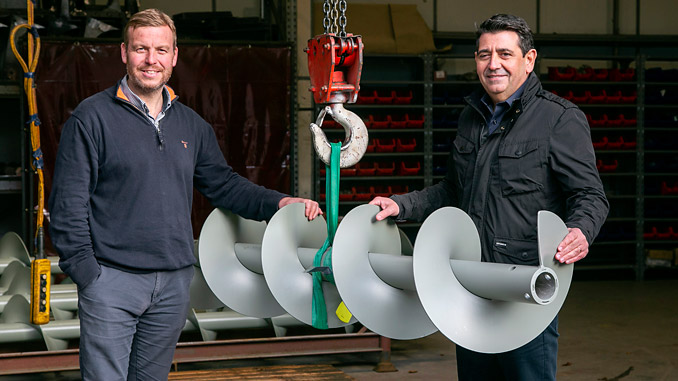 From left, Spiral Services General Manager, Kris Hunter, and CEO, Neil Thomson