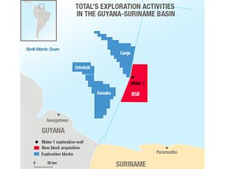 Total's exploration activities in the Guyana-Suriname Basin