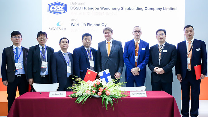 The signing of the strategic development agreement between CSSC Huangpu Wenchong Shipbuilding Company Limited and Wärtsilä marks a commitment to cooperate in promoting hybrid propulsion solutions