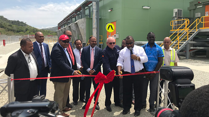 Port Moresby Power Station being inaugurated by the Hon. James Marape, Prime Minister of Papua New Guinea; Peter Botten, Managing Director of Oil Search Limited; and Wapu Sonk, Managing Director of Kumul Petroleum Holdings Limited