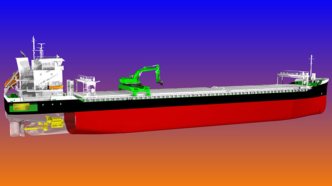 The self-discharging bulk carriers being built for Aasen Shipping will be the first of their kind to operate with hybrid propulsion