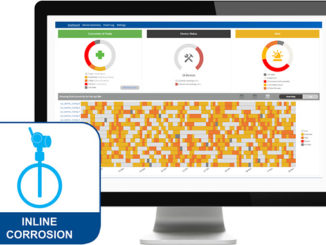 The Plantweb™ Insight Inline Corrosion Application dashboard is equipped with alerts and an intuitive heatmap