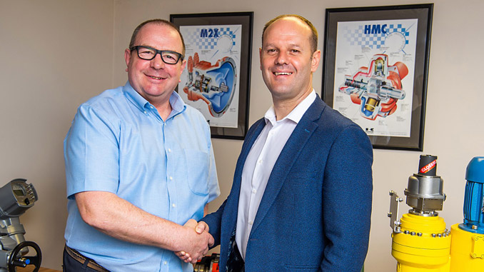 Chris Woodhead, Director at Advanced Actuators, and Ian Duffew, IMH Commercial Director