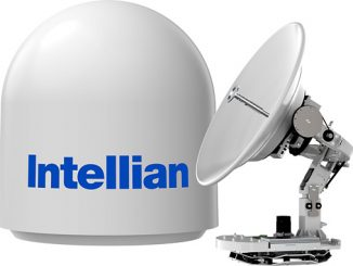Intellian's v85NX, pictured, and v100NX antennas have been endorsed for use with the IntelsatOne Flex service (photo: Intellian)