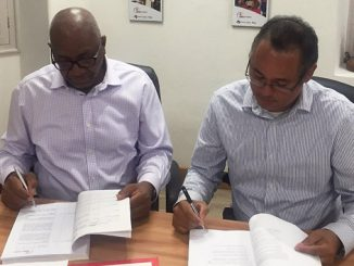 Roger Blackman, CEO of utility company Barbados Light & Power Company and Rodney George, Vice President, Caribbean, Wärtsilä Energy Business signed a contract to supply a 33 MW flexible power plant to the Caribbean island of Barbados