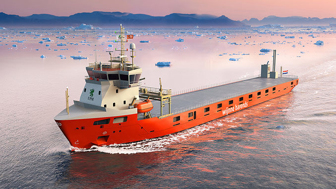 Four short-sea cargo vessels being built for Wijnne & Barends will feature LNG propulsion and storage systems provided by Wärtsilä