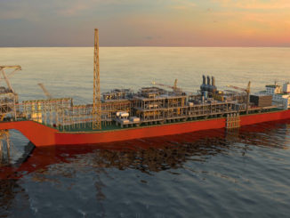 Rendering of the Sangomar Field Development FPSO (illustration: Woodside)