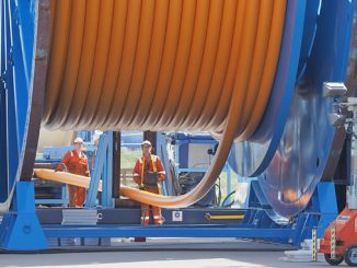 TCP Flowline spooling (photo: Airborne Oil & Gas)