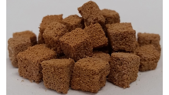Porous polymer cubes can soak up 2 to 3 times their weight in oil