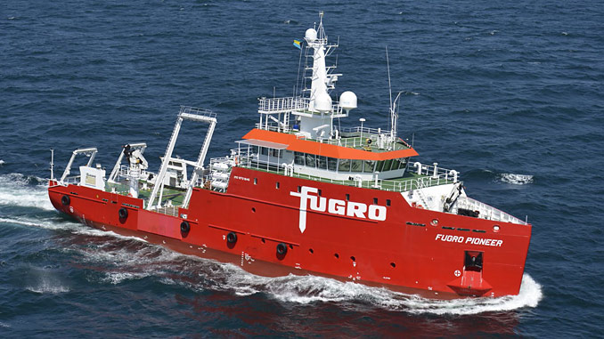 'M.V. Fugro Pioneer' has been built to the highest standards demanded of a modern internationally operating multi-purpose survey vessel