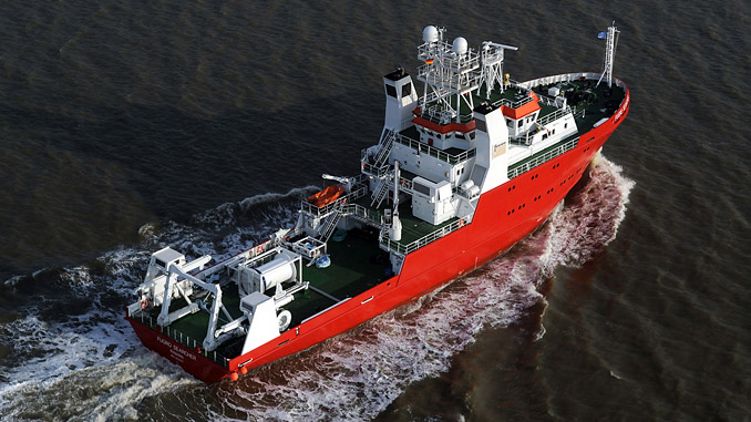 'Fugro Searcher' is a geophysical survey vessel with permanently mobilised geophysical and hydrographic survey spreads