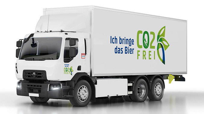 Renault Trucks D Wide Z.E., 200 kWh with lithium-ion batteries, offers a real-world operating range of up to 200 km