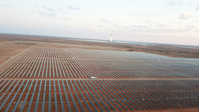 Sirius 258 MW solar power complex in Upington, South Africa