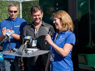 SoCalGas, Cummins Westport, the San Joaquin Air Pollution Control District, and Western Milling unveil new ultra-low emissions truck at World Ag Expo