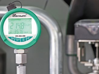 The new digital pressure gauge type SPG-DIGI enables measured data to be stored on an internal data logger (photo: Stauff)