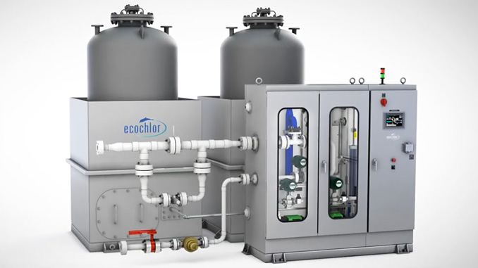 The Ecochlor system, with the exception of the filters, can be placed almost anywhere and is designed to meet existing space limitations on board the vessel