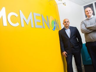 McMenon CEO Anand Puthran, right, with Craig Marshall – the company's new product development director