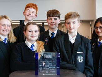 Northgate High School champions – from left, Maddison Fleming, Keira-Mai Fenn, Connor Hazell, Lewis Burrell, Dylan Gooch, Prisha Brown