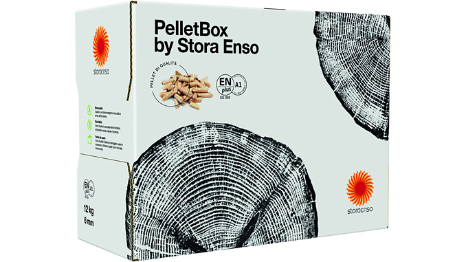 Product development based on design and usability: households benefit from handy and renewable pellet boxes by Stora Enso, a product that is sustainable through and through
