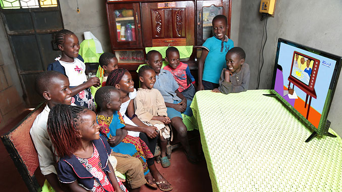 Azuri solar-powered satellite TV is helping rural children to access education channels